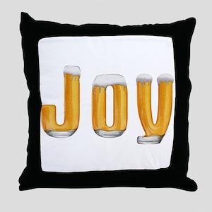 Joy Beer Throw Pillow