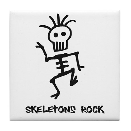 Skeletons Rock! Tile Coaster