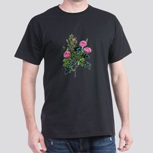 Pierre-Joseph Redoute Rose Dark T-Shirt