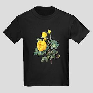 Pierre-Joseph Redoute Rose Kids Dark T-Shirt