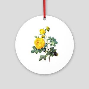 Pierre-Joseph Redoute Rose Ornament (Round)
