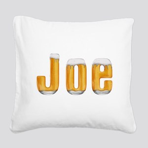 Joe Beer Square Canvas Pillow