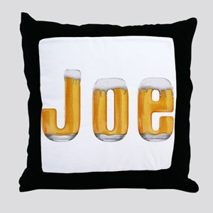 Joe Beer Throw Pillow