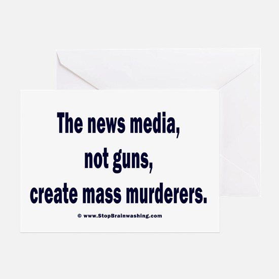 News Media Murderers Greeting Card