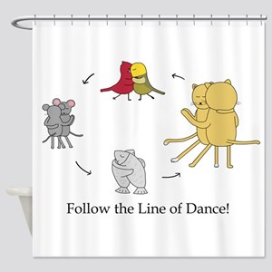 Follow the Line of Dance! Shower Curtain