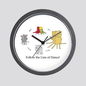 Follow the Line of Dance! Wall Clock
