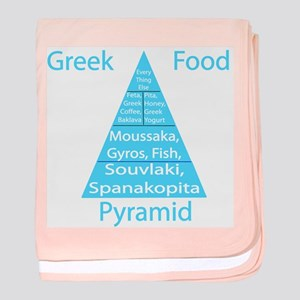 Greek Food Pyramid Baby Blanket