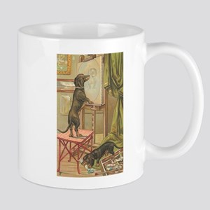 Dachshund Dogs Vintage Art Stainless Steel Tr Mugs