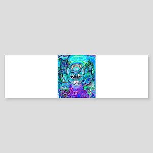 Cat Camouflage in Blue Bumper Sticker