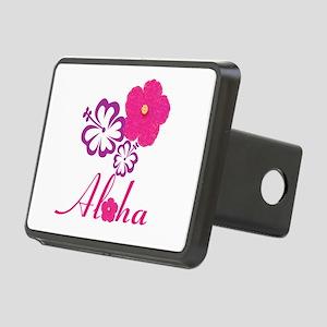 Pink Hibiscus Aloha Rectangular Hitch Cover