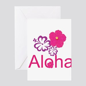 Pink Hibiscus Aloha Greeting Card