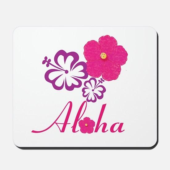 Pink Hibiscus Aloha Mousepad