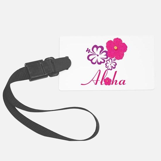 Pink Hibiscus Aloha Luggage Tag