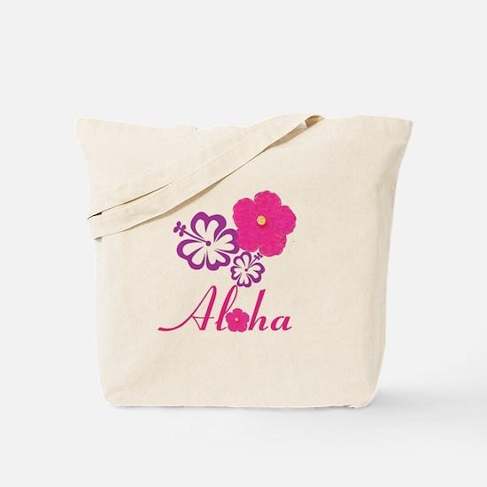 Pink Hibiscus Aloha Tote Bag