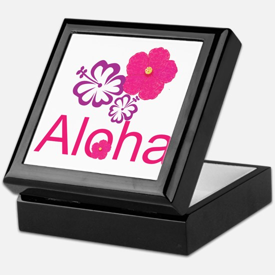 Pink Hibiscus Aloha Keepsake Box