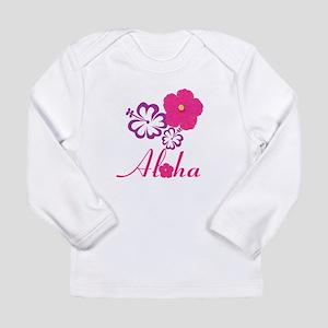 Pink Hibiscus Aloha Long Sleeve Infant T-Shirt