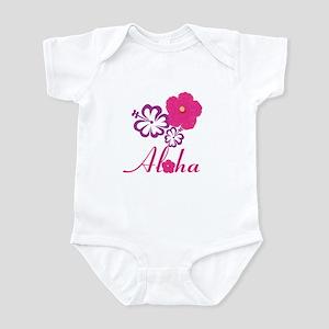 Pink Hibiscus Aloha Infant Bodysuit