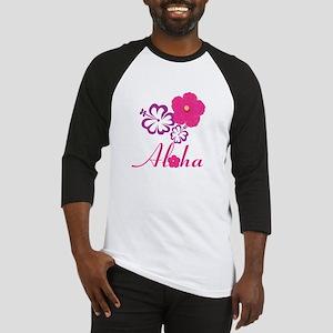 Pink Hibiscus Aloha Baseball Jersey