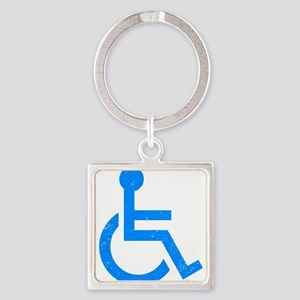 Disabled Square Keychain