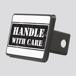 Handle With Care Rectangular Hitch Cover