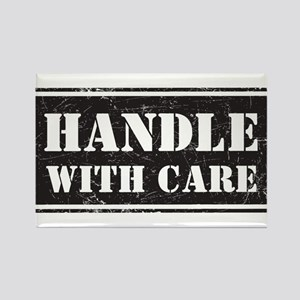 Handle With Care Rectangle Magnet