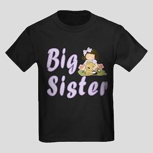Big Sister Little Friends 4 Kids Dark T-Shirt