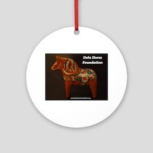Dala Horse Foundation Ornament (Round)