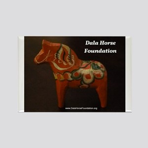 Dala Horse Foundation Rectangle Magnet