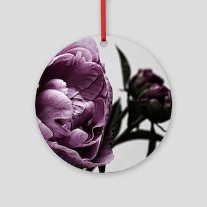 Gorgeous Purple Flower Ornament (Round)