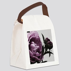 Gorgeous Purple Flower Canvas Lunch Bag