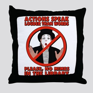 Mimes Throw Pillow