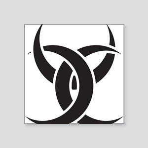 "Triple Horn of Odin Square Sticker 3"" x 3"""