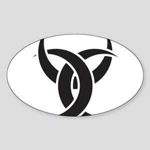 Triple Horn of Odin Sticker (Oval)