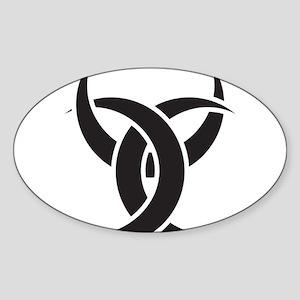 Triple Horn of Odin Sticker (Oval)