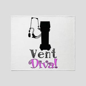 Vent Diva Throw Blanket