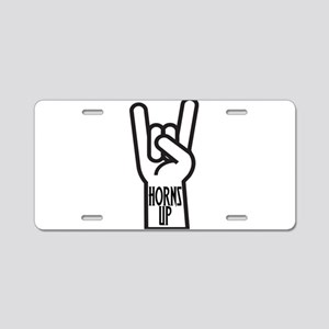 Horns Up Aluminum License Plate