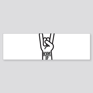 Horns Up Sticker (Bumper)