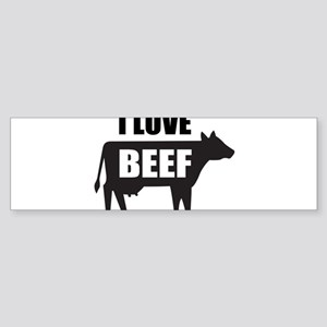 I Love Beef Sticker (Bumper)