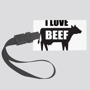 I Love Beef Large Luggage Tag
