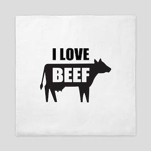 I Love Beef Queen Duvet