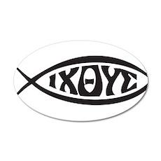 Jesus Fish IXOYE Wall Sticker