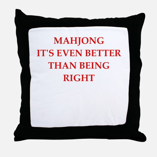 Mahjong Throw Pillow