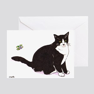 Tux Cat Greeting Card