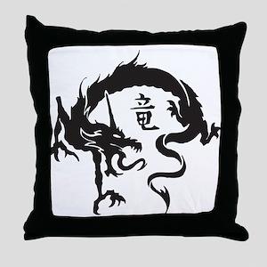 Japanese Dragon Throw Pillow