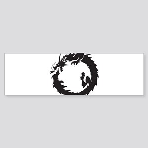 Japanese Dragon Sticker (Bumper)