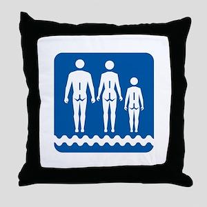 Nudist camp, Quebec - Canada Throw Pillow