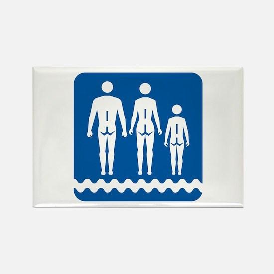 Nudist camp, Quebec - Canada Rectangle Magnet (100