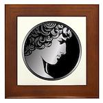 Antinous Medallion Framed Tile