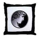 Antinous Medallion Throw Pillow