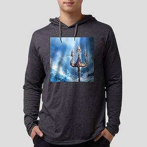 Poseidons Trident Mens Hooded Shirt